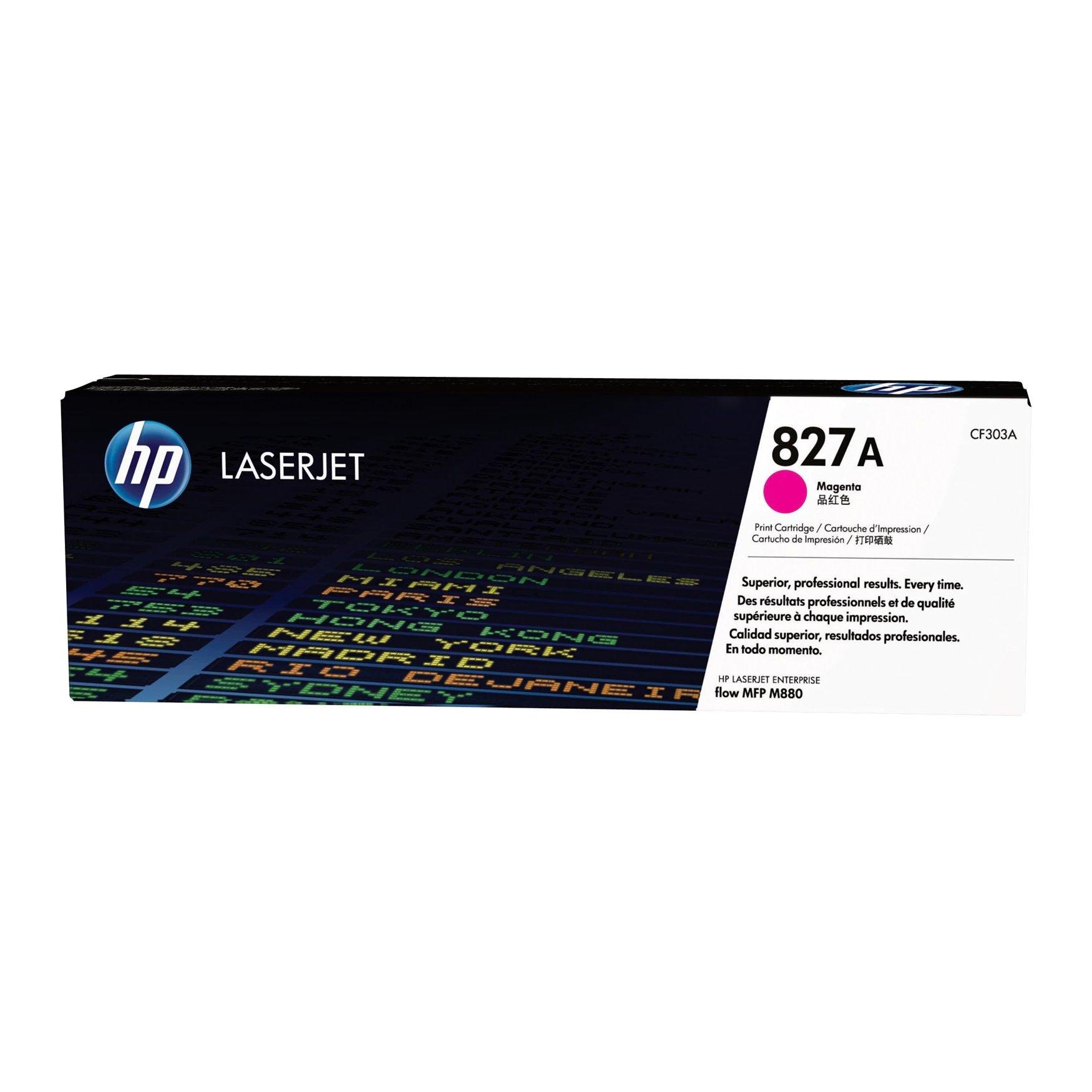 Hewlett Packard [HP] 827A LaserJet Toner Cartridge Page Life 32000pp Magenta Ref CF303A