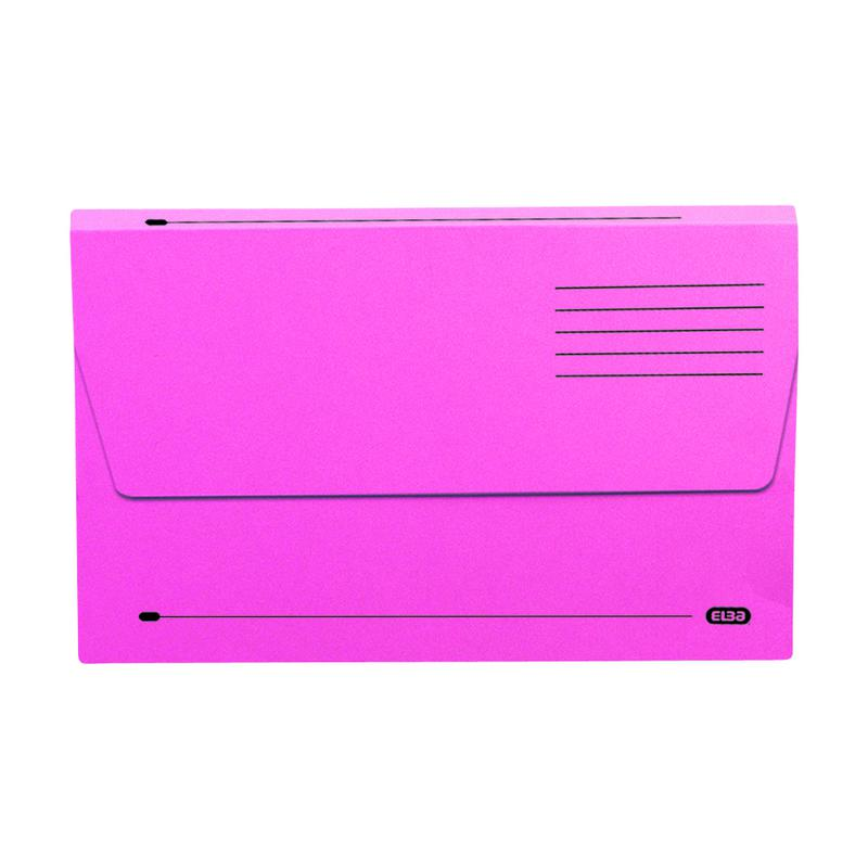 Elba Bradford Document Wallets Foolscap Pink 100090242
