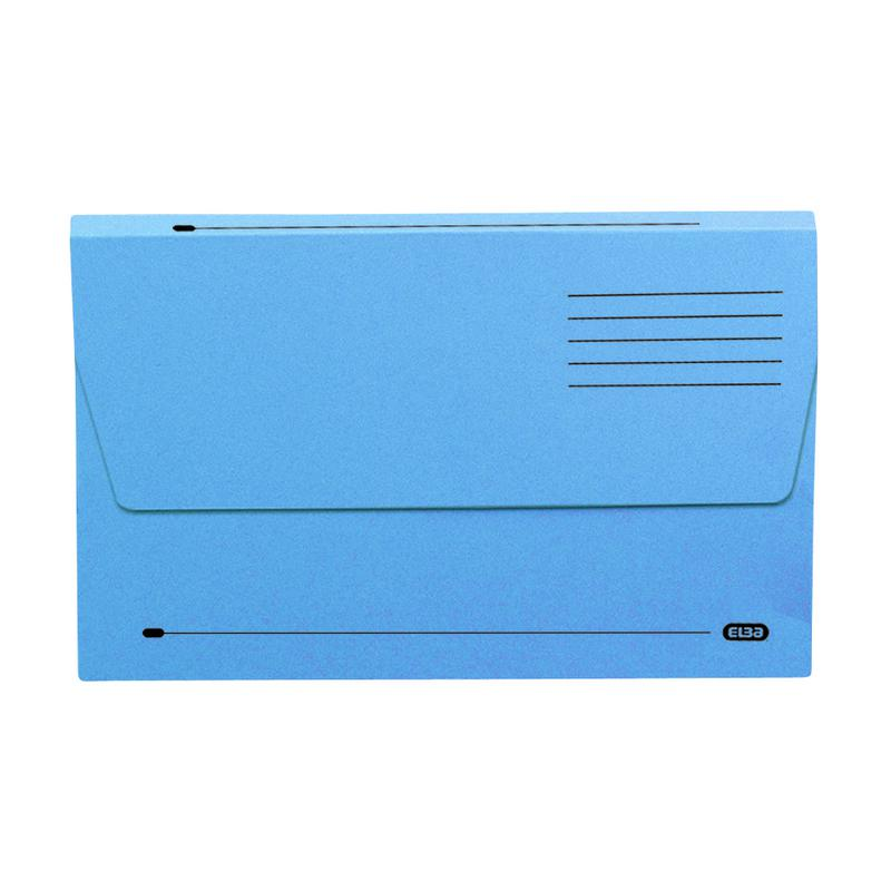 Elba Bradford Document Wallets Foolscap Blue 100090126