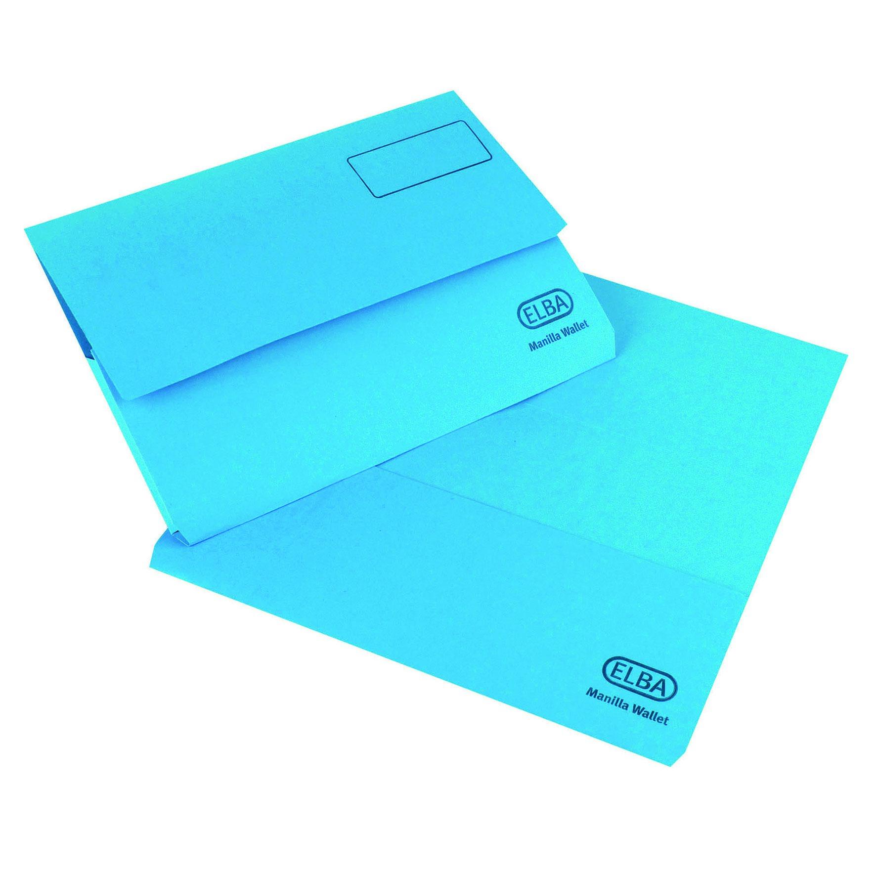 Elba Strongline Document Wallets Foolscap Blue 26613