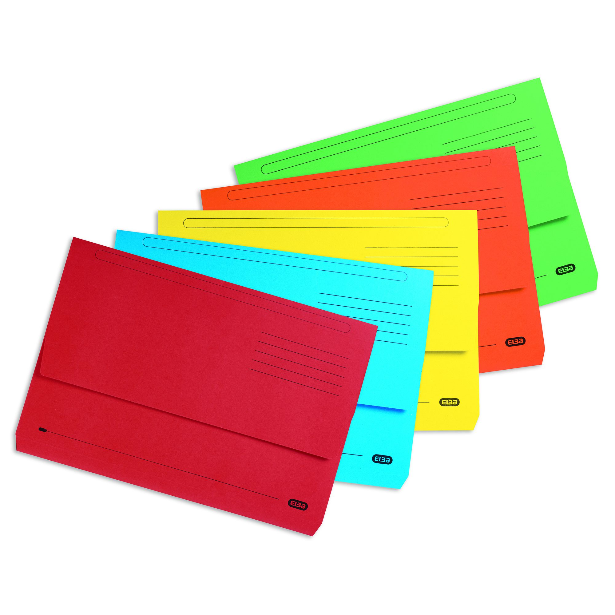 Elba Strongline Document Wallets Foolscap Assorted Colours (25) 100090138