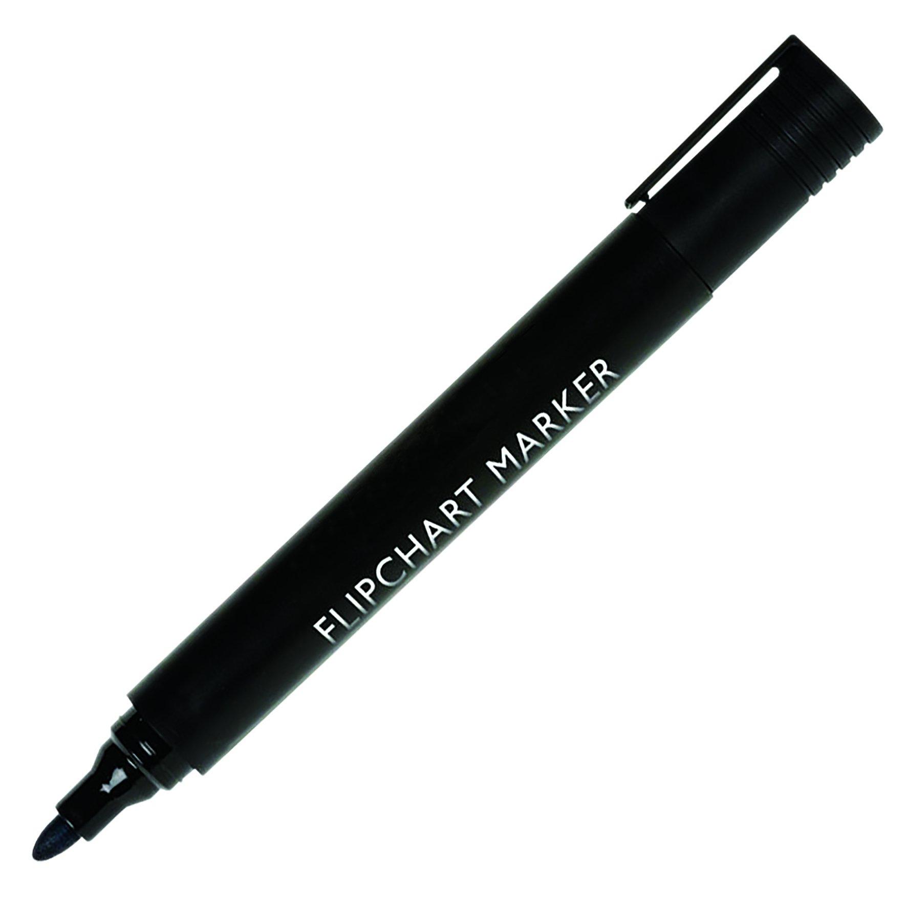 Value Flipchart Marker Bullet Tip Blk