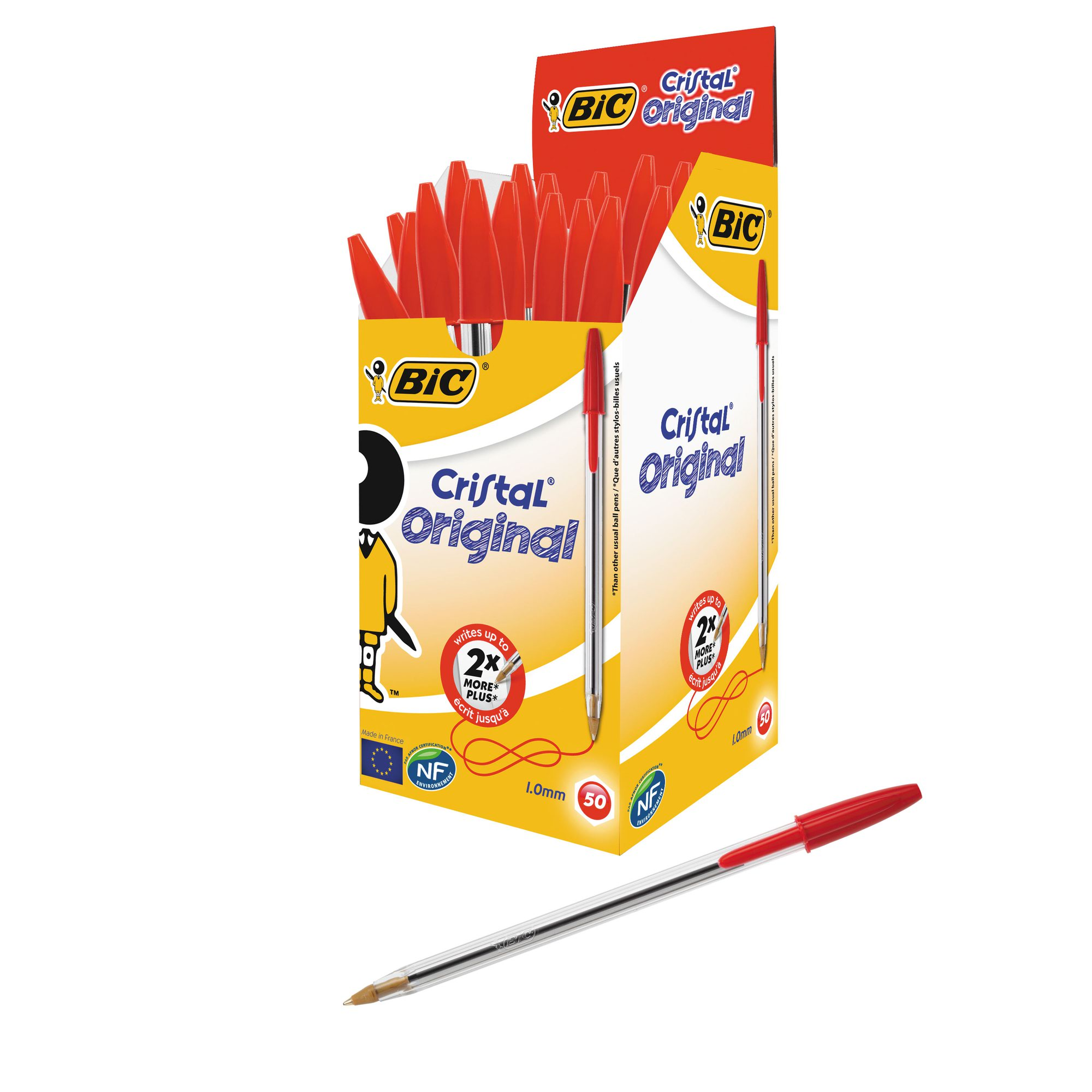BIC Cristal Original Ballpoint Pen Medium Red 8373612