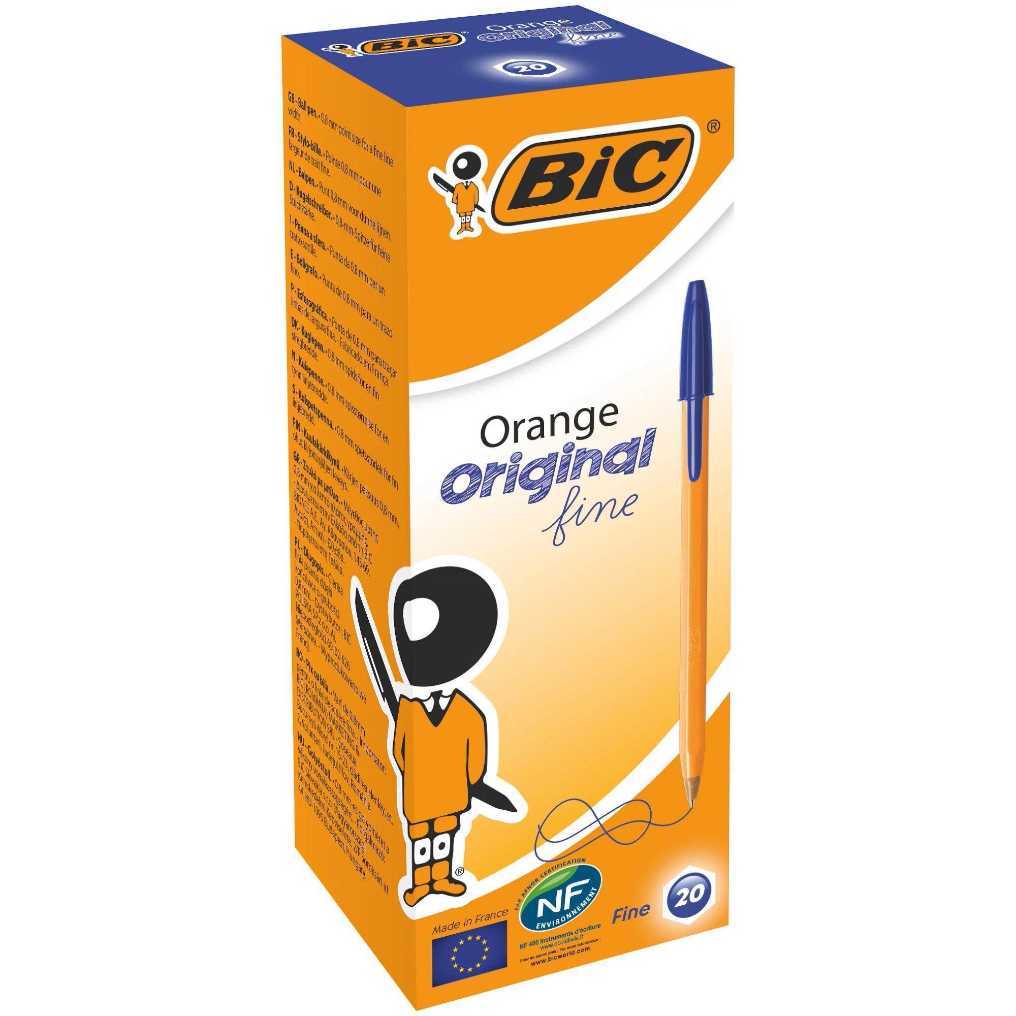 Image for BIC Orange Original Ballpoint Pen Fine Blue 101113