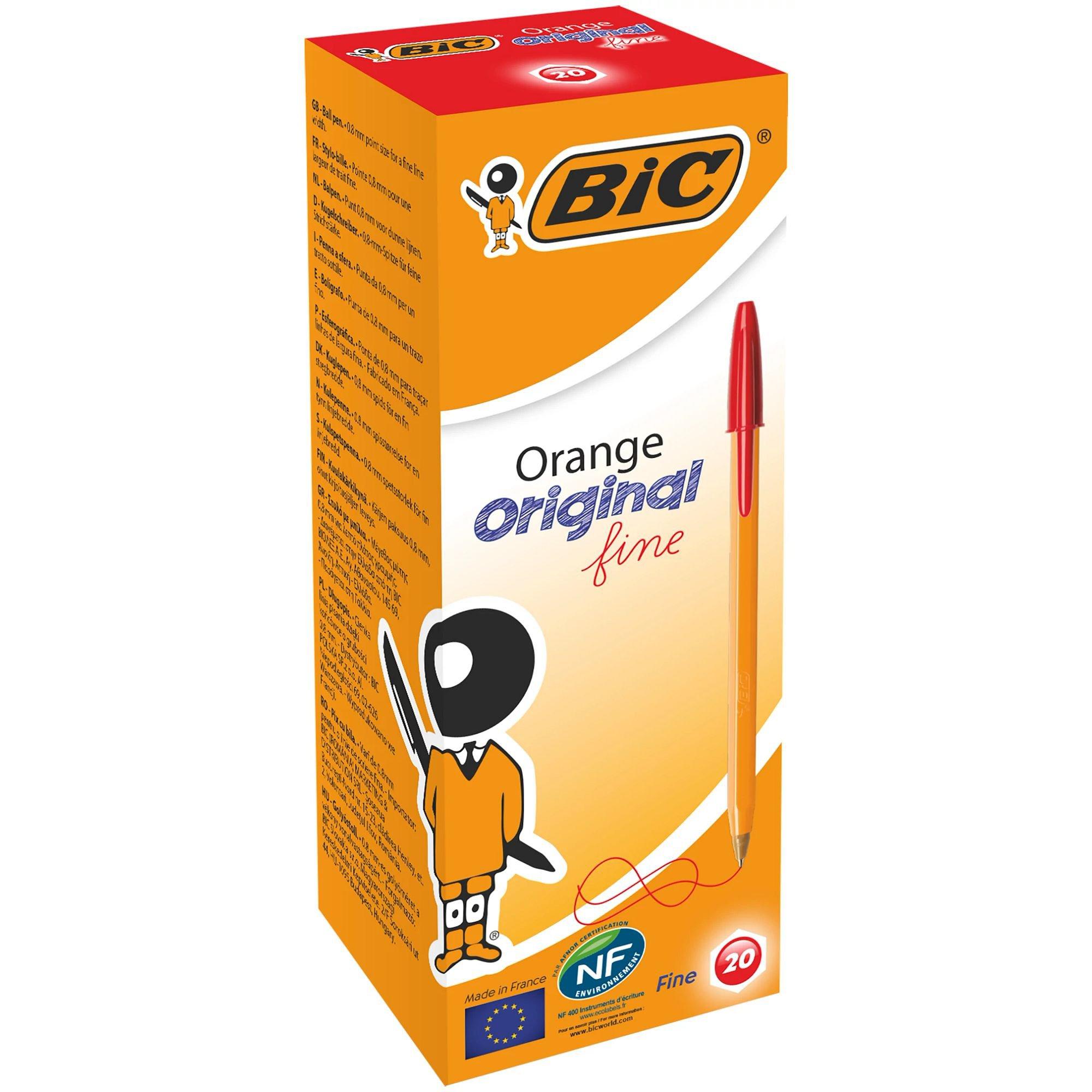 Image for BIC Orange Original Ballpoint Pen Fine Red 101120