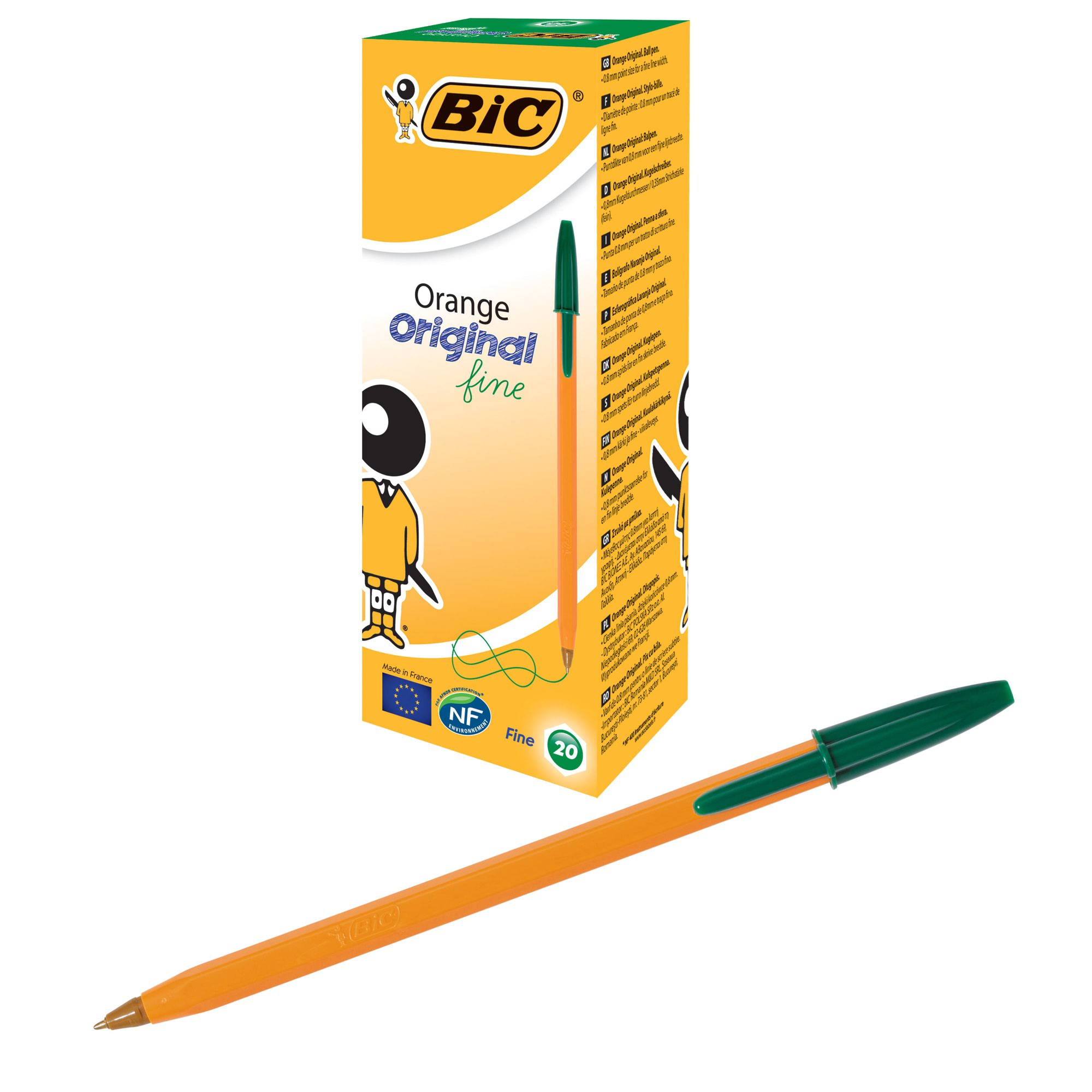 Image for BIC Orange Original Ballpoint Pen Fine Green 101137