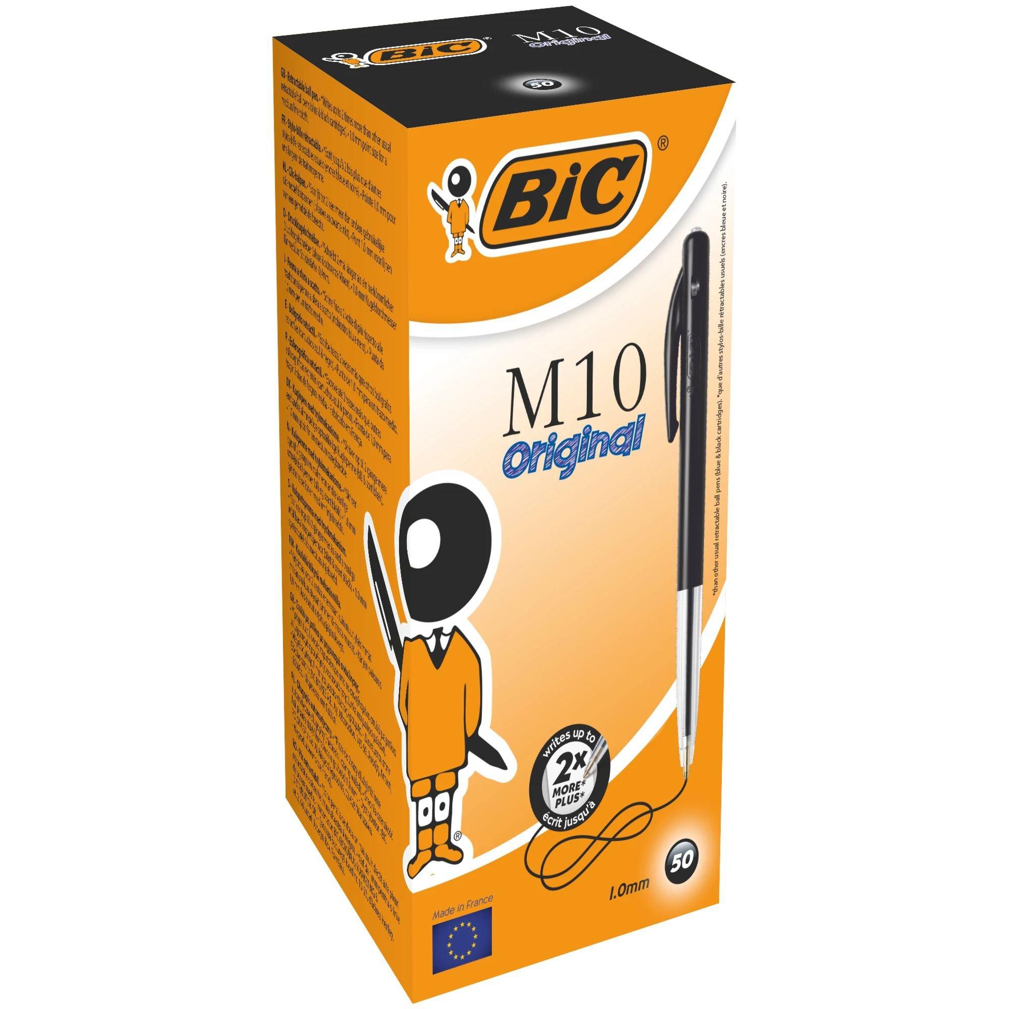 Image for BIC M10 Clic Retractable Ballpoint Pen Black 1199190125