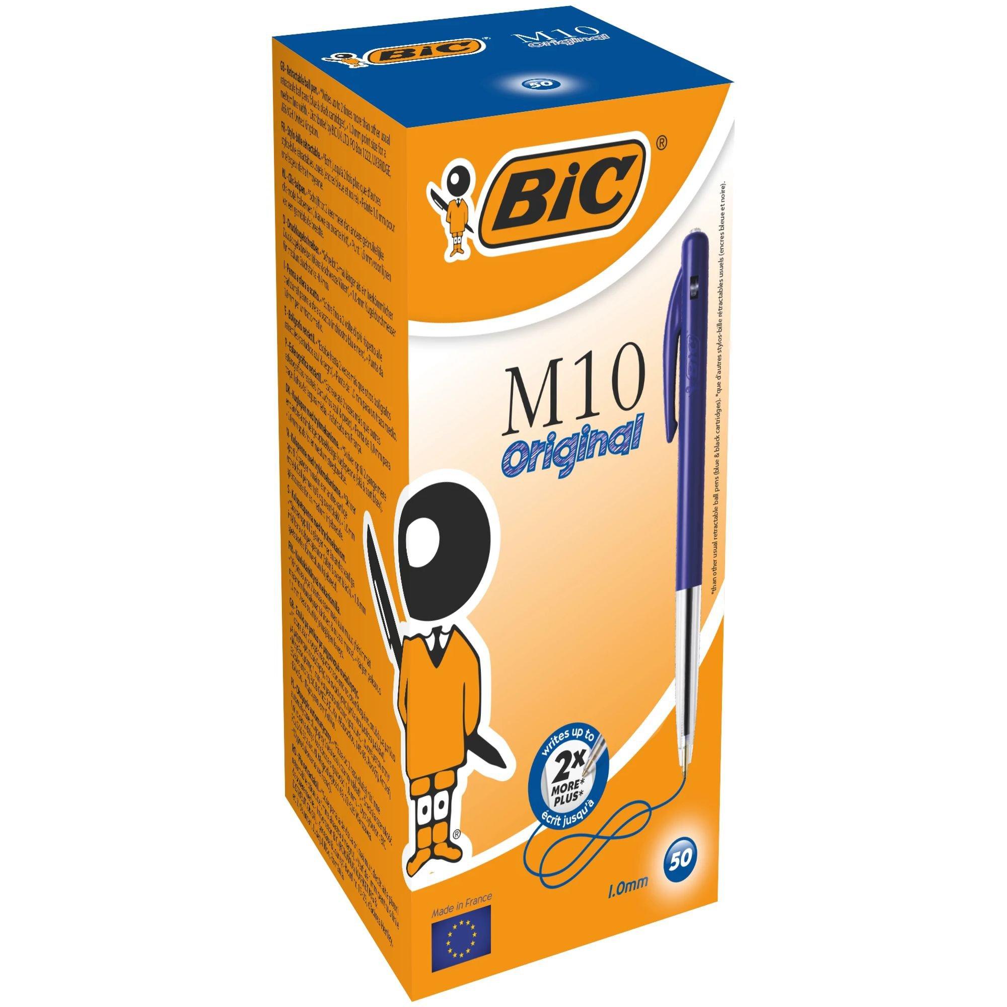 Image for BIC M10 Clic Retractable Ballpoint Pen Blue 1199190121