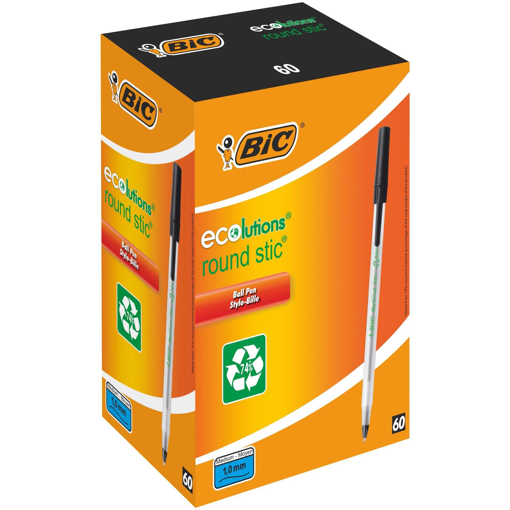 BIC Ecolutions Stic Ballpoint Pen Black 893239
