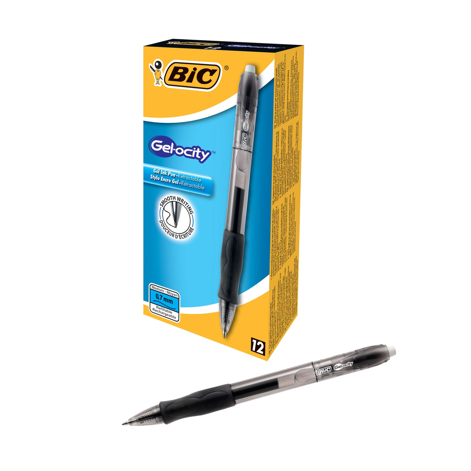 BIC Gelocity Retractable Pen Black 820565