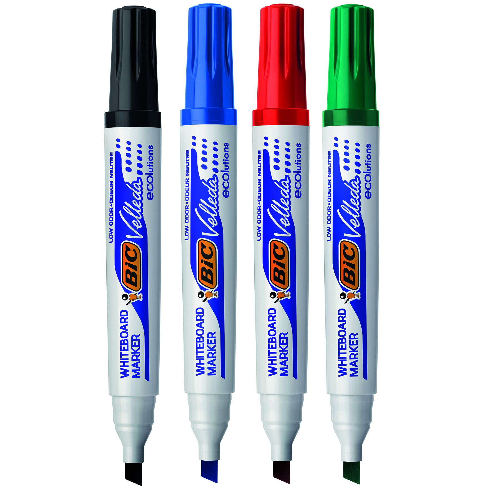 BIC Velleda Whiteboard Marker 1751 Chisel Tip Assorted Colours (4) 904950