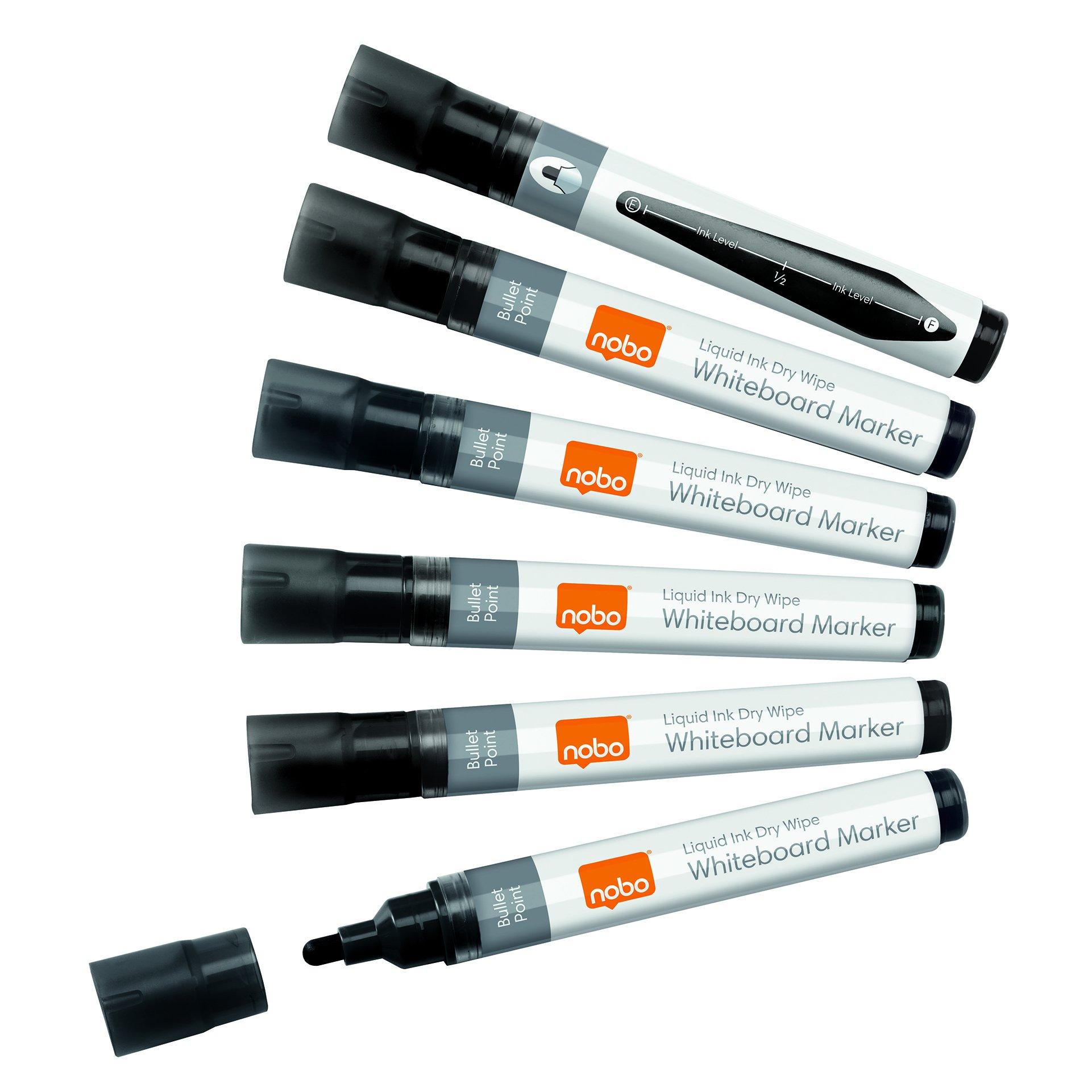 Nobo Liquid Ink Drymarker Bullet Tip Black 1901073