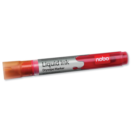 Nobo Liquid Ink Drymarker Bullet Tip Red