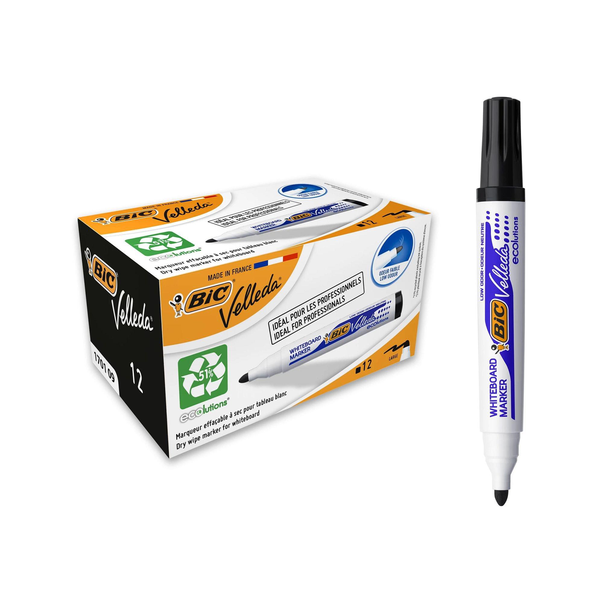 BIC Velleda Whiteboard Marker 1701 Bullet Tip Black 904937