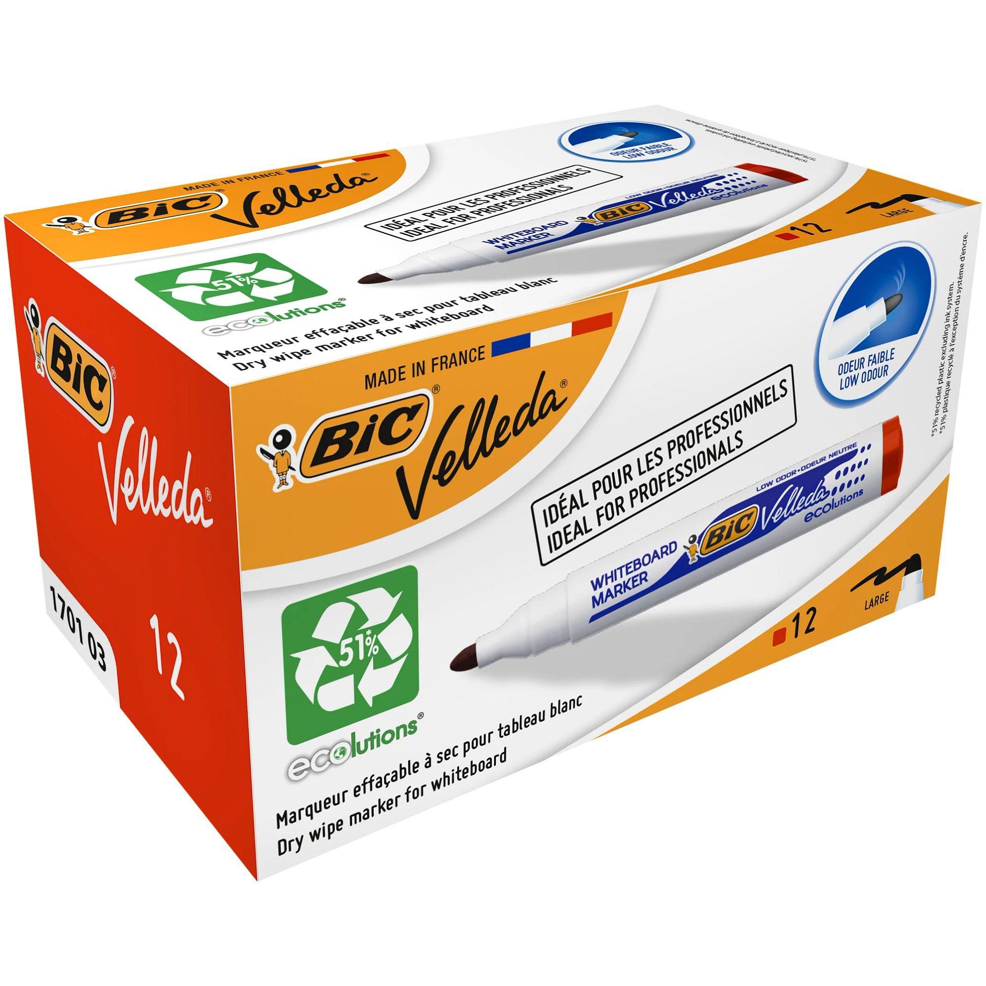 BIC Velleda Whiteboard Marker 1701 Bullet Tip Red 904939