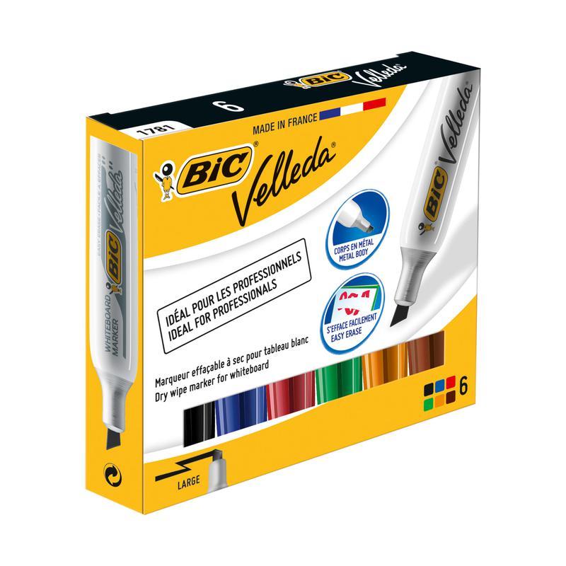 BIC Velleda Felt Marker 1781 Assorted Colours (6) 875788