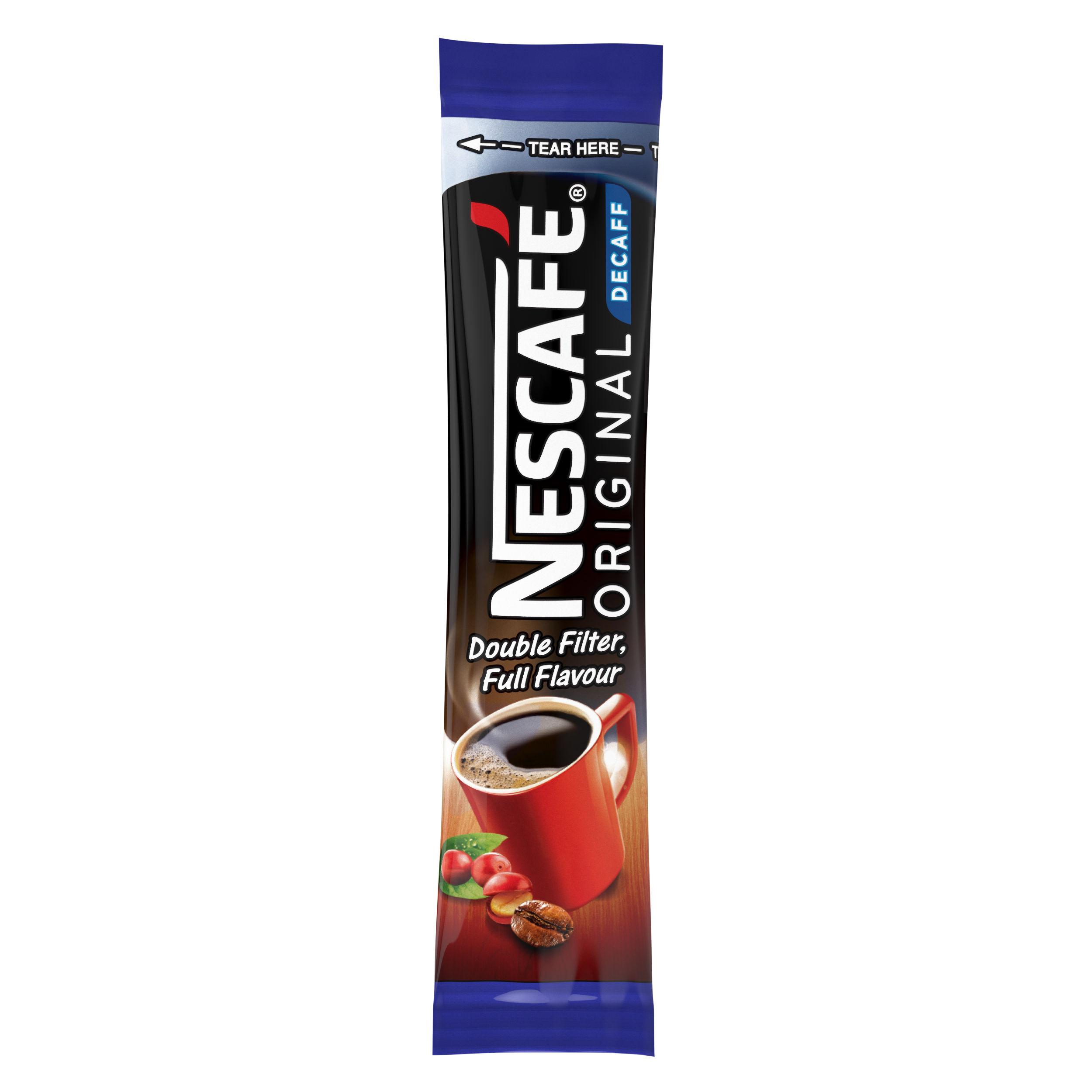 Coffee Nescafe Original Decaffeinated Instant Coffee Sticks 1.8g (Pack 200)