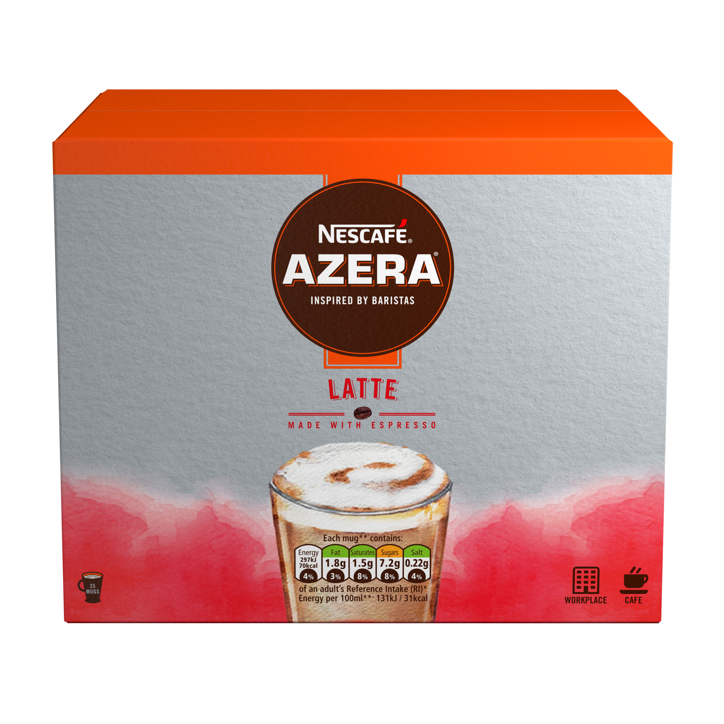 Coffee Nescafe Azera Speciality Latte Sachets (Pack 35)