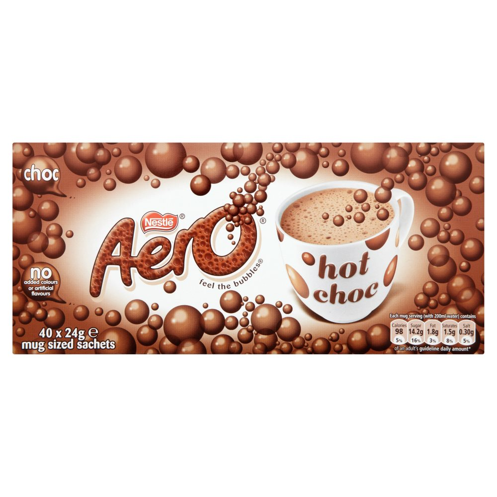 Nestle Aero Hot Drinking Chocolate 24g (Pack of 40) 12203209