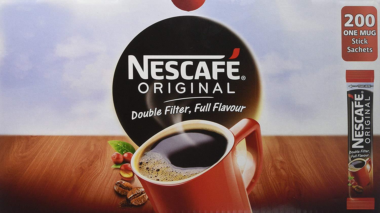 Nescafe Original One Cup Instant Coffee Sticks (Pack 200)