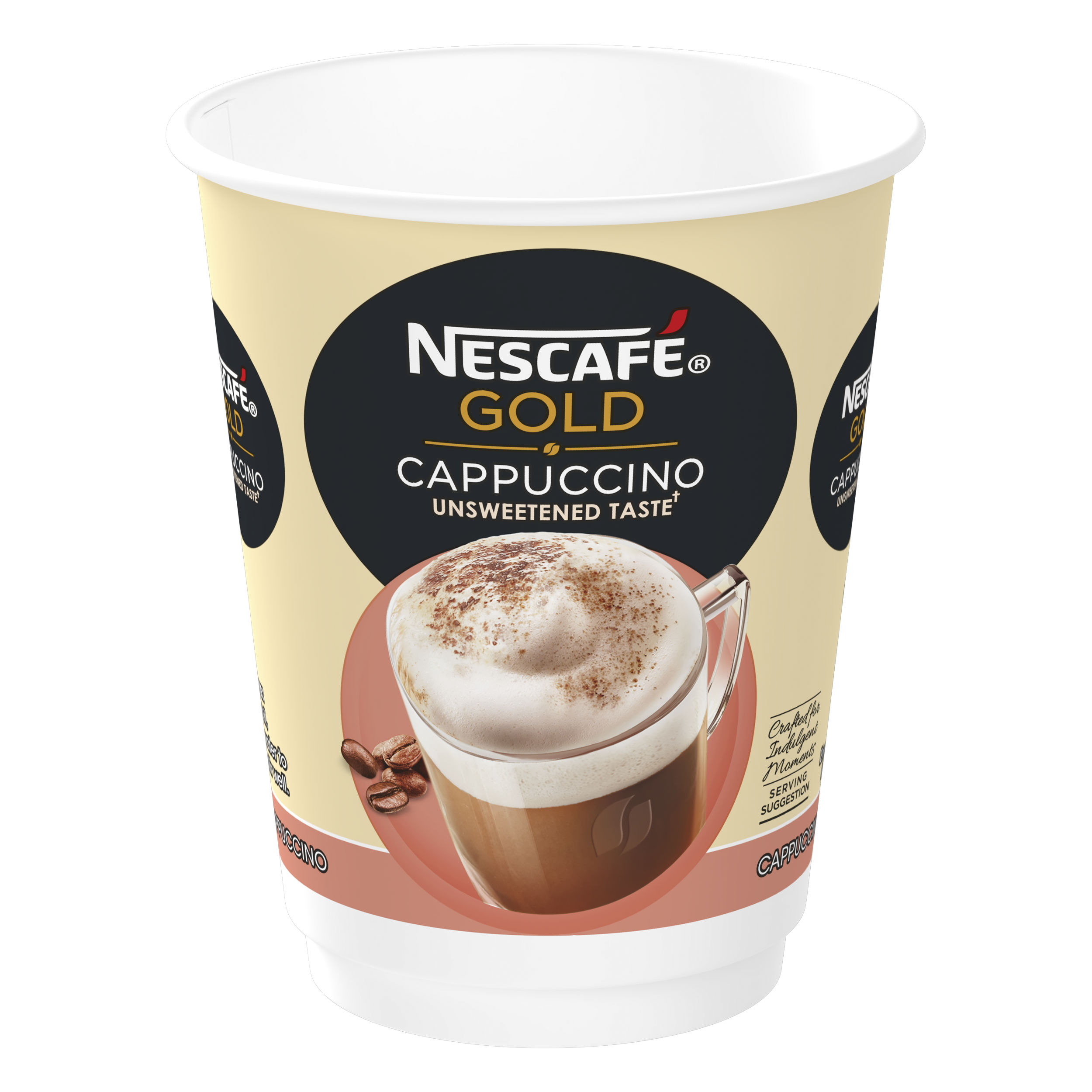 Nescafe & Go Gold Cappuccino Foil-sealed Cup for Drinks Machine Ref 12367461 [Pack 8]