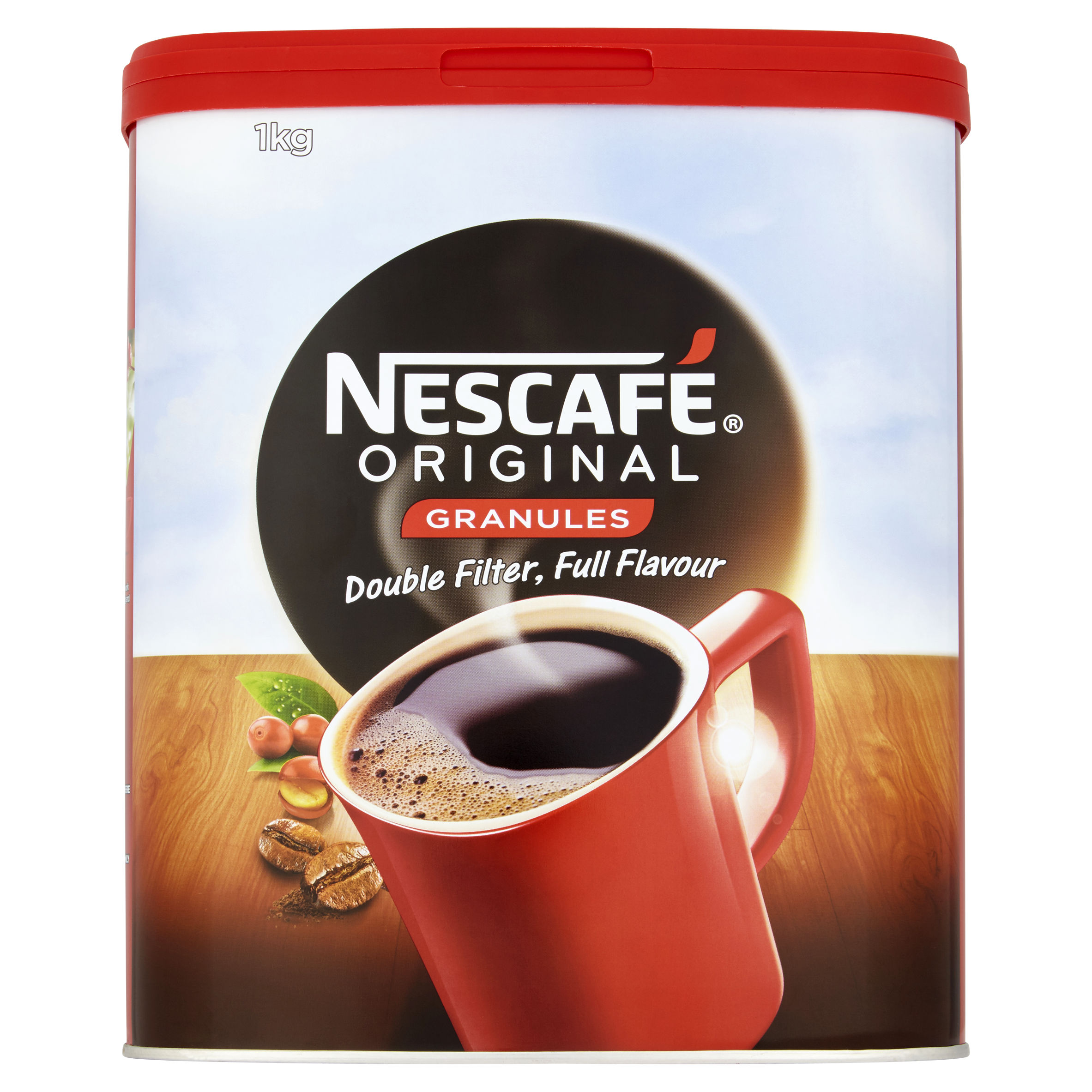 Nescafe Original Instant Coffee Granules Tin 1kg Ref 12315568