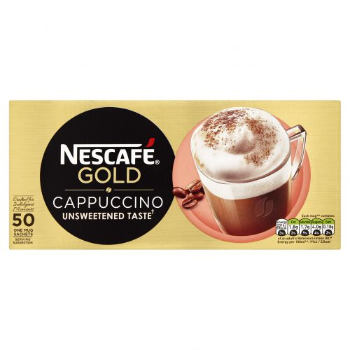 Nescafe Gold Cappuccino Unsweetened Sachets (Pack 50)
