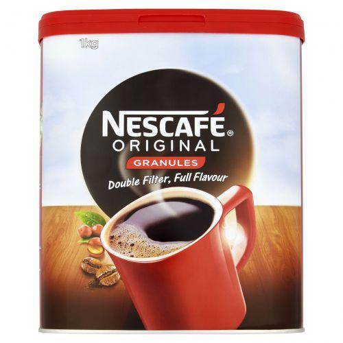 Nescafe Original Instant Coffee Granules Tin 1kg Ref 12315568