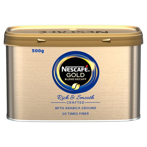 Nescafe Gold Blend Instant Coffee Decaffeinated Tin 500g Ref 12339242