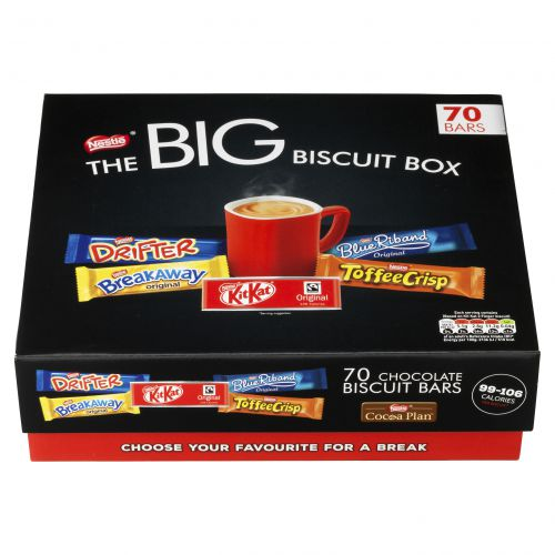 Nestle Big Biscuit Box (Includes: Breakaway, Kit Kat, Toffee Crisp, Yorkie, Blue Riband) 12313923