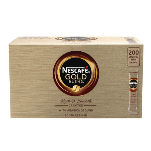 Nescafe Gold Blend Instant Coffee Granules Stick Sachets Ref 12340523 [Pack 200]