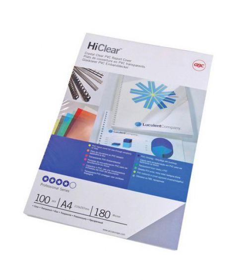 GBC HiClear Binding Covers PVC 150 micron Superclear A4 Ref 41601E [Pack 50]