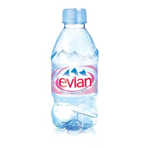 Evian Natural Mineral Water Bottle Plastic 330ml Ref 01310 [Pack 24]