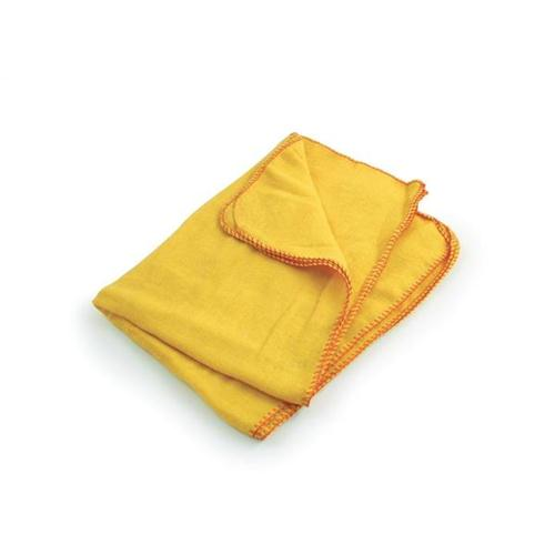 5 Star Facilities Yellow Dusters 100 per Cent Cotton [Pack 10]