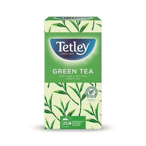 Tetley Tea Bags Pure Green Tea Individually Wrapped Ref 1293A [Pack 25] *2017 Mailer*