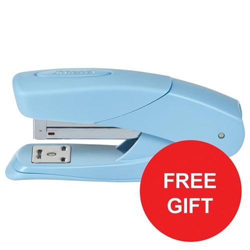 Rexel Matador Half Strip Stapler Blue Ref 2104383 [FREE Scissors] Oct-Dec 2017