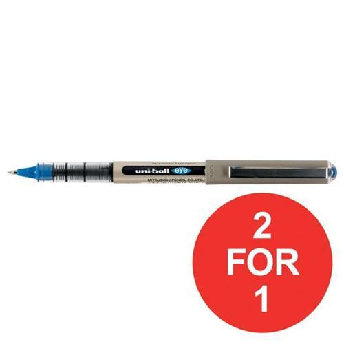 Uni-ball Eye UB157 Rollerball Pen Line 0.5mm Blue Ref 162453000 [Pack 12] [2 For 1] Oct-Dec 2017