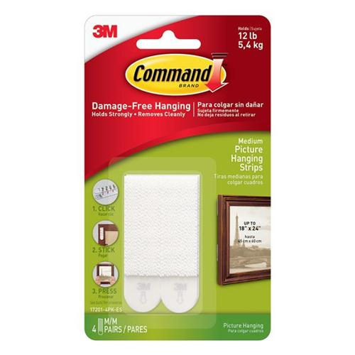 Command Picture Hanging Strips Medium Ref 17201-4pk [Pack 4]