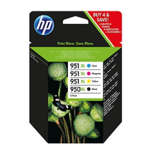 Hewlett Packard [HP] No.  950XL/951XL Inkjet Cartridge Combo Multi Pack CMYK Ref C2P43AE [Pack 4]