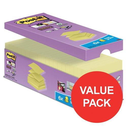 Post-It Super Sticky Z-Notes Value Pack Super Strong 76x76mm Canary Yellow Ref 70005293231 [Pack 20]