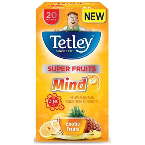 Tetley Super Fruits Tea MIND Exotic Fruits with Zinc Ref 4067A [Pack 20]