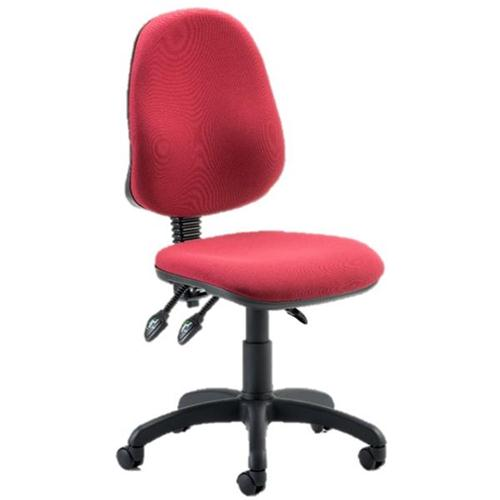 Trexus Operator Chair Flat Packed Fabric Wine