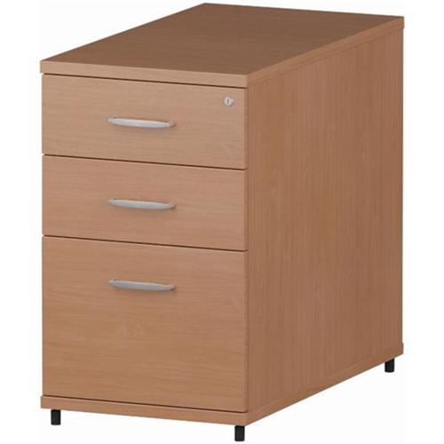 Trexus Desk High Pedestal 430mm 3 Drawers Beech