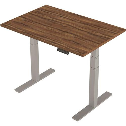 Trexus Desk Height-adjustable 1200mm Walnut