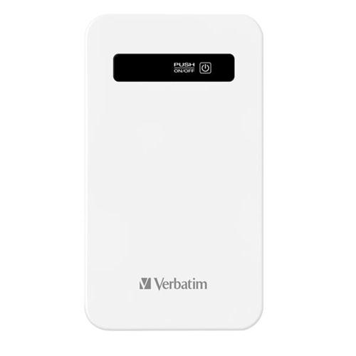 Verbatim Power Pack Ultra Slim 4200 mAh with USB cable White Ref 98454