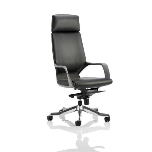 Adroit Executive Chair Static Arms Flat Packed Bonded Leather Black