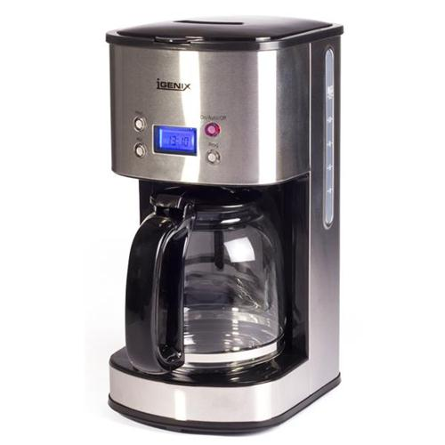Igenix Digital Coffee Maker LCD Display Keep Warm 1.5L 12 Cup Capacity Stainless Steel Ref IG 8250