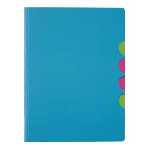 Pagna Millenials Part File with Five Coloured Compartments A4 Light Blue Ref 4180513 [Pack 5]