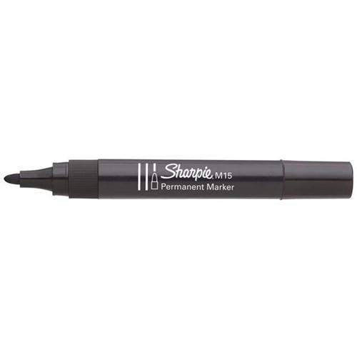 Sharpie M15 Permanent Marker Bullet Tip 1.1mm Line Black Ref S0192584 [Pack 12]