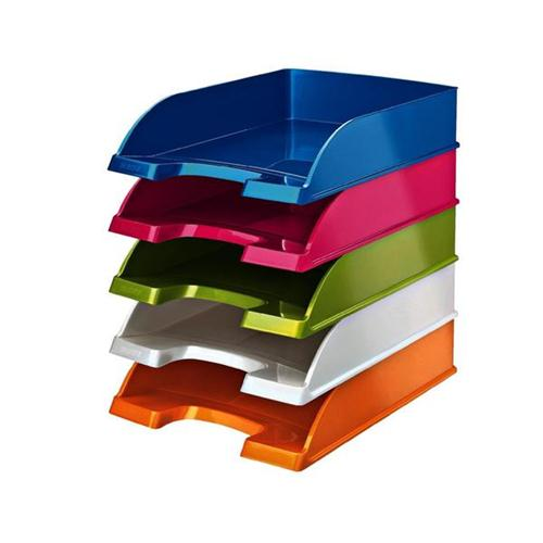 Leitz Bright Letter Tray Stackable Glossy White Pearl Ref 52263001